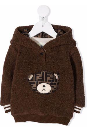 Fendi Kids FF-logo Teddy hoodie