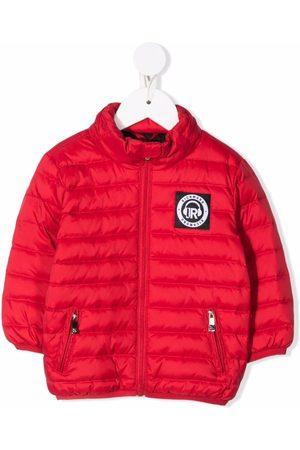 John Richmond Junior Puffer Jackets - Logo patch jacket