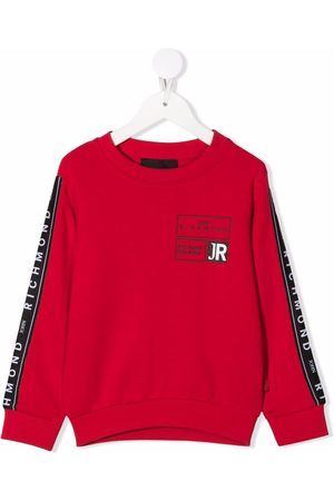 John Richmond Junior Logo stripe sweatshirt