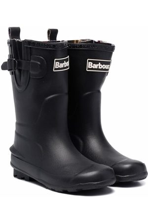 Barbour Kids Logo-patch ankle boots