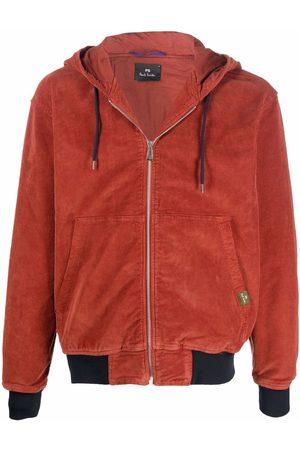 PS Paul Smith Hooded corduroy bomber jacket