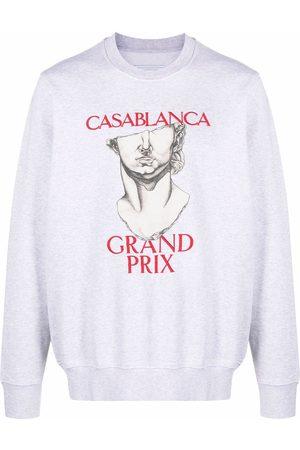 Casablanca Logo-print organic cotton sweatshirt - Grey
