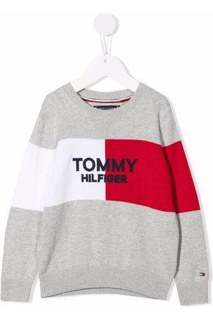 Tommy Hilfiger Junior Logo long-sleeve sweatshirt - Grey