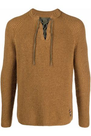 Emporio Armani Lace-up detail jumper