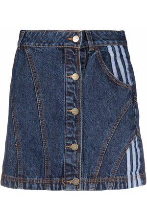 adidas Tri-stripe denim skirt