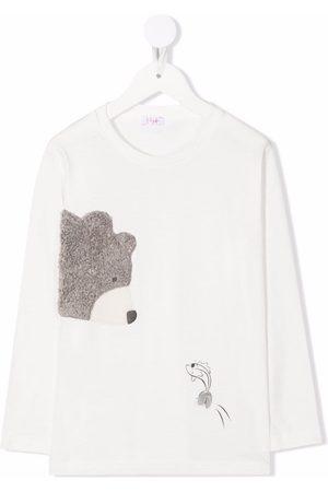Il Gufo Bear-print long-sleeved T-shirt