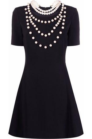Moschino Women Dresses - Pearl-embellished flared dress