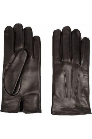 Emporio Armani Embossed-logo gloves