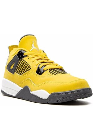 "Jordan Kids Boys Sneakers - Air Jordan 4 Retro ""Lightning"" sneakers"