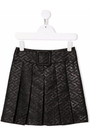 VERSACE Girls Printed Skirts - Metallic logo print skirt