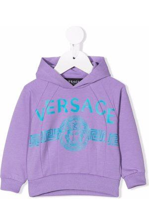 Versace Kids Logo print hoodie