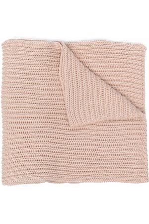 Calvin Klein Logo-patch organic cotton scarf - Neutrals