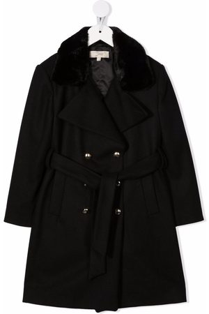 ELIE SAAB JUNIOR Double-breasted belted coat