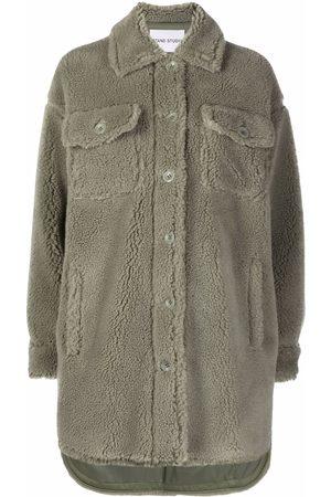 STAND STUDIO Sabi teddy-texture jacket