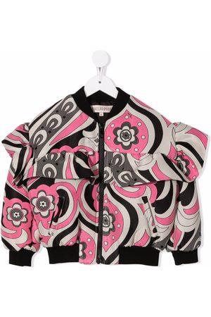 Emilio Pucci Junior Floral print bomber jacket - Neutrals