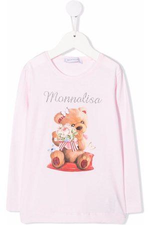 Monnalisa Graphic-print long-sleeved T-shirt