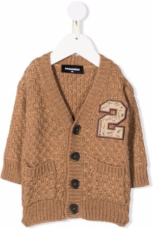Dsquared2 Kids Checked knit cardigan - Neutrals
