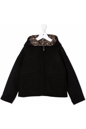 Fendi Kids Reversible monogram-print hooded jacket