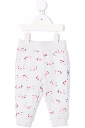 Monnalisa Floral-print track pants