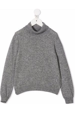 Fay Kids Roll neck jumper - Grey