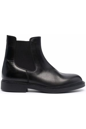 Fratelli Rossetti Round-toe leather Chelsea boots - NERO