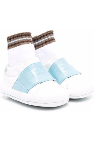 Fendi Kids Logo-strap sneakers
