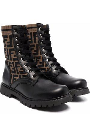 Fendi Kids Logo ankle boots