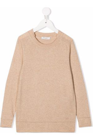 Paolo Pecora Kids TEEN fine-knit ribbed-trim jumper - Neutrals