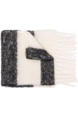 Marni Striped logo scarf - Grey