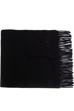 A.P.C. Logo-embroidered wool scarf