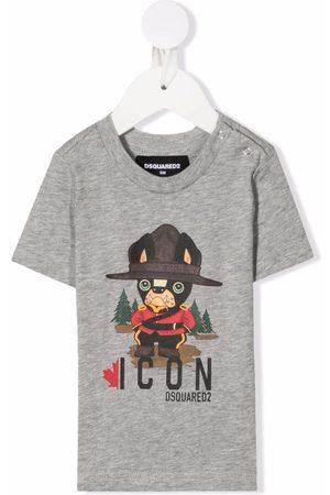 Dsquared2 Kids Icon-print T-shirt - Grey