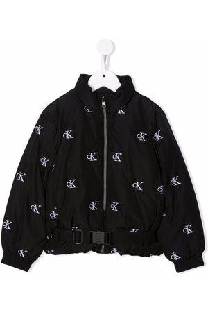 Calvin Klein Kids Logo-print padded jacket