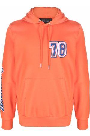Diesel Number-print pullover hoodie