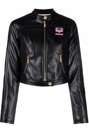 Chiara Ferragni Eyelike patch bomber jacket