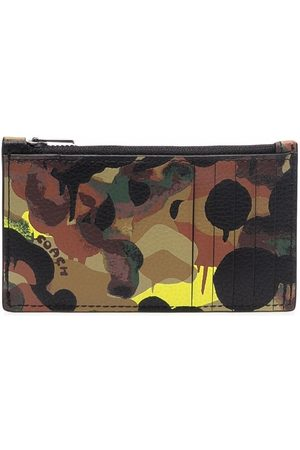 Coach Men Wallets - Abstract-print leather wallet - Neutrals