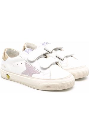 Golden Goose Kids Star-patch touch-strap sneakers