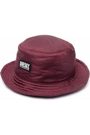 Diesel C-Swamp logo-patch bucket hat