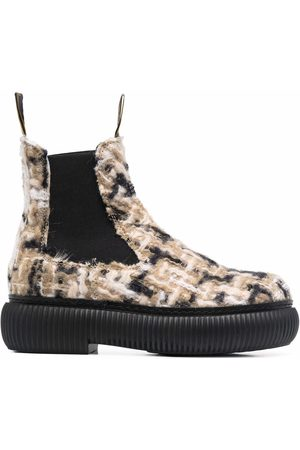 Lanvin Knitted-upper chelsea boots - Neutrals