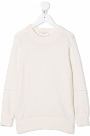 Paolo Pecora Kids Fine-knit ribbed-trim jumper - Neutrals