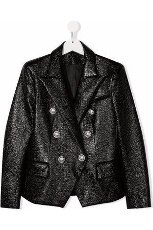 Balmain TEEN double-breasted blazer jacket