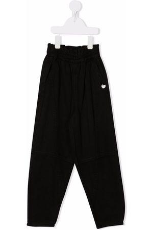 Monnalisa Boys Sweatpants - Patch-detail track pants