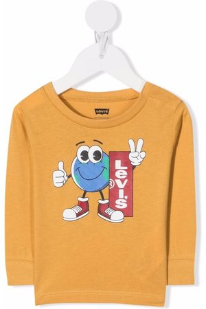 Levi's Kids Hoodies - Logo-print crew neck sweatshirt