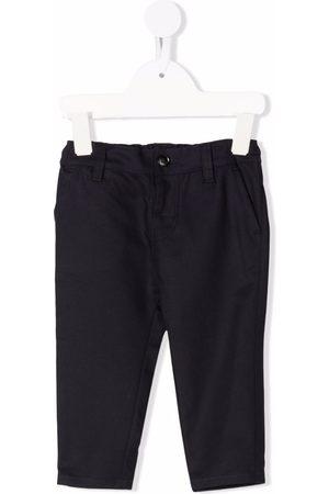 Emporio Armani Kids Girls Chinos - Elasticated waistband slim-fit chinos