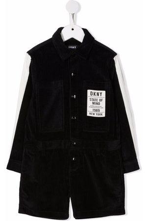 Dkny Kids Girls Playsuits - Corduroy long-sleeved playsuit
