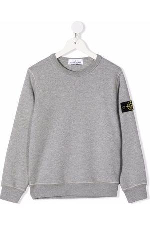 Stone Island Junior Boys Long sleeves - Plain long-sleeve sweatshirt - Grey