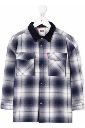 Levi's Kids Check-print button-up shirt