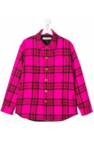 Philosophy Di Lorenzo Serafini Kids TEEN checked wool shirt jacket