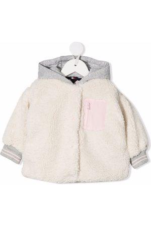 Tommy Hilfiger Junior Jackets - Faux-fur hooded jacket - Neutrals