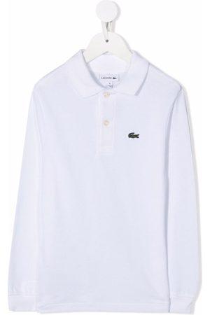 Lacoste Kids Logo-patch polo shirt