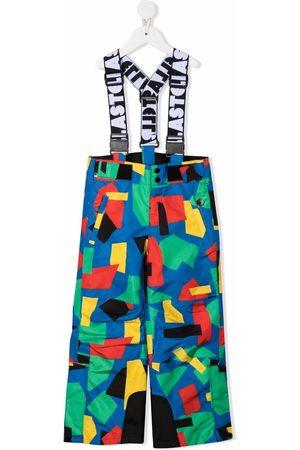 Stella McCartney Kids Colour-block straight-leg dungarees